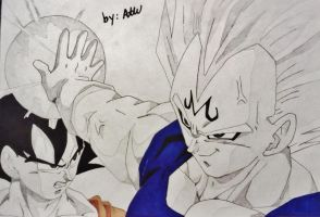 Vegeta's Pride by WatersDBZArt