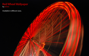 Red Wheel Wallpaper by photoartiste