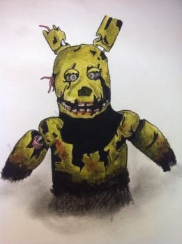 Springtrap-Five Nights at Freddy's by XSoul-ReaperX