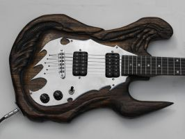 alien fantasy guitar by Licataknives