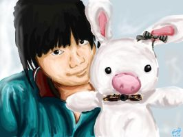 Britney and Pig-Rabbit by The-Yello-Mello