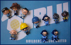 Chibi-Charms: TF2 BLUs by MandyPandaa