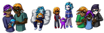 Splatoon: Squiddy family by Lord-Evell