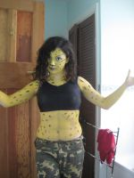 Cheetah bodypaint. by Thekidisacat