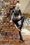 Spandex and gasmask. by AgnaDevi