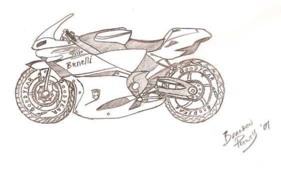 Benelli motor cycle by prouty04