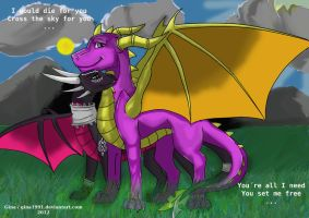 Spyro and Cynder - Guide you home by Gina1991