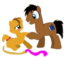 Sandy and Maxwell Meeting in Pony form by CartoonAnimes4Ever