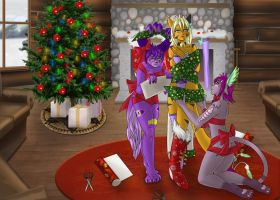 Commission - Purfect Christmas Gift by Vaporeon249