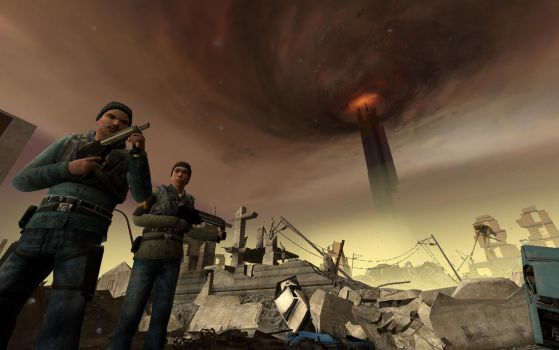Half-Life 2 Episode One - City 17 in ruins. by xXWarrior250Xx