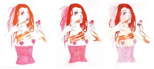 Emilie Autumn Group by ApwilCakes