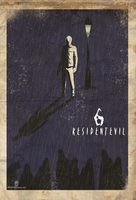 ALONE :resident evil 6 fan poster by zxgame
