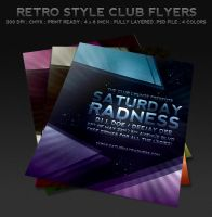 Retro Style Club Flyers by ibRC