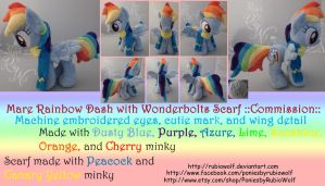 MLP Mare Rainbow Dash with Scarf ::Commission:: by RubioWolf