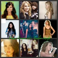 Demi Lovato and Taylor Swift by DemiFan101