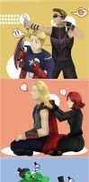 Avengers : Just Chillin by holymarbles