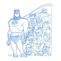 COMMISSION: Batman and Rogues Gallery by StephenBJones