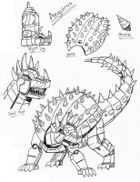 PR G-Force: Anguirus Zord by Deadpoolrus