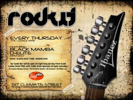Rockit Party flyer by 24HourDesign