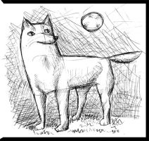 wolf doodle by NightReaper01