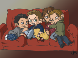 Destiel-Sabriel TV NIGHT by Karacoon