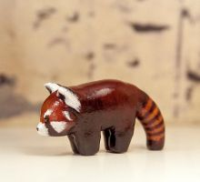 Red Panda Animal Figurine by RamalamaCreatures
