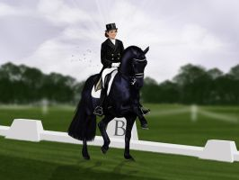 Demone show entry - 3de Dressage phase by SilviasDesires