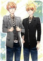 APH USUK in stylish suits by GMchan