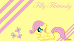 Filly Fluttershy Wallpaper by Silentmatten