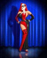 Jessica Rabbit as Harley Quinn by Brandtk