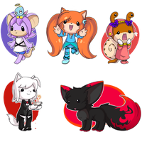 Varying degrees of chibi by MissHoloska
