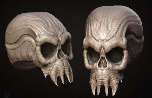 Skull Ornament Concept by TLishman