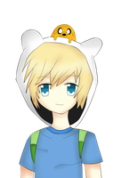 Tiny Jake and Finn the Human by kawaiigirl300