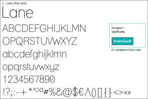 Lane -top ten font by ITC.Webmaasters by atranaz