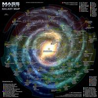 Mass Effect Galaxy Map by otvert
