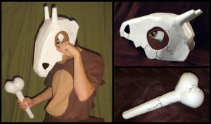 Pokemon - Cubone Skull Cosplay by YellerCrakka