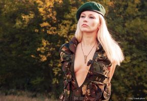 Military girl IV by ukrain