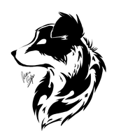 Border Collie tattoo? by Cross--Hearts
