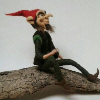 Needle Felted Rumpelstiltskin Figure by HeartfeltCreations