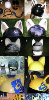 Celty Helmet Progress by AnimeGeer