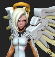 Overwatch Mercy Screengrab by andra-arts