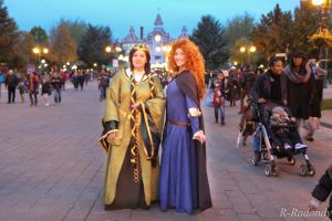 Merida and Elinor at Disneyland by Pandore11