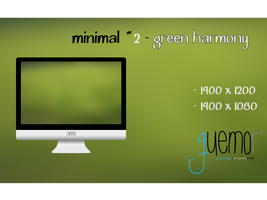 Minimal #2 - Green Harmony by guemor