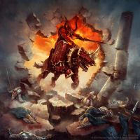 Warhammer: Invasion - Bloodcrusher by jbcasacop