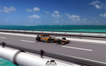 FSO F1 car on highway bridge by Prezes12