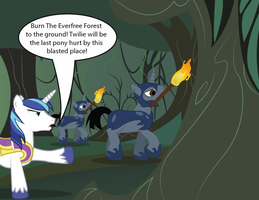 EQD Artist training ground day30: Burning Everfree by NightTactician