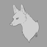 Free Wolf Head LineArt by Blue-Rakuen