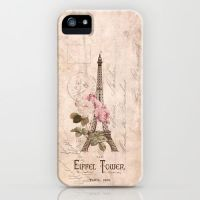 Vintage Eiffel Tower iPhone case by VectoriaDesigns