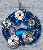 Blue Coil Pendant by cakhost