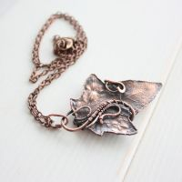 Real hawthorn leaf necklace by WhiteSquaw